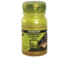 Rod Hutchinson Legend Boilie Dip 100ml - Strawberry & Scopex