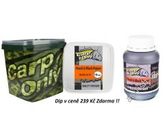 Carp Only Boilie 3kg + DIP Zdarma - PEACH & BLACK PEPPER