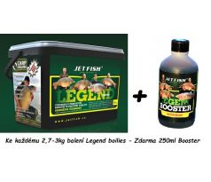 Jet Fish Boilie Legend Range Bioenzym Fish - LOSOS & ASAFOETIDA + Legend Booster 250ml Zdarma