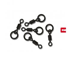 Carp Whisperer obratlíky s kroužkem Ring Swivel 10ks vel.11