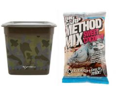 Bait-Tech Camo Bucket Method Mix Big Carp Sweet Coconut M/Mix 3kg - VÝPRODEJ !!!