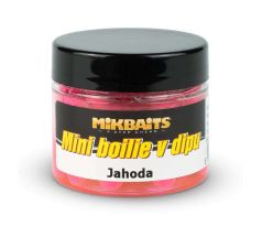 Mikbaits Mini boilie v dipu 50ml - Jahoda