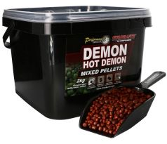 STARBAITS Hot Demon Pelety Mixed 2kg + lopatka