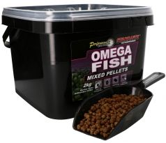 STARBAITS Omega Fish Pelety Mixed 2kg + lopatka