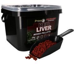 STARBAITS Red Liver Pelety Mixed 2kg + lopatka