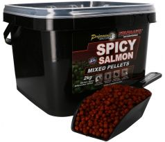 STARBAITS Spicy Salmon Pelety Mixed 2kg + lopatka