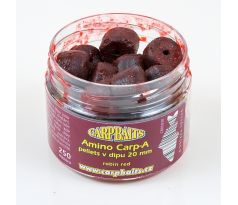 Carpbaits Amino Carp A pellets v dipu 250ml - Robin Red